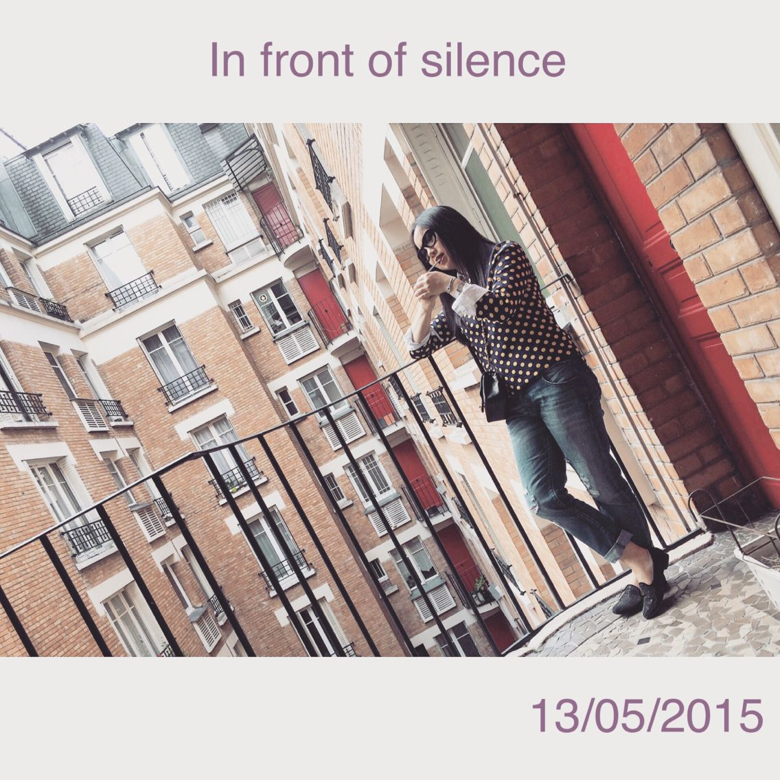 In front of silence