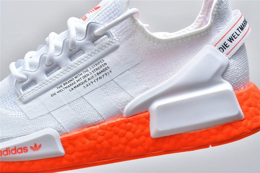 The Adidas NMD R1 V2 Cloud White