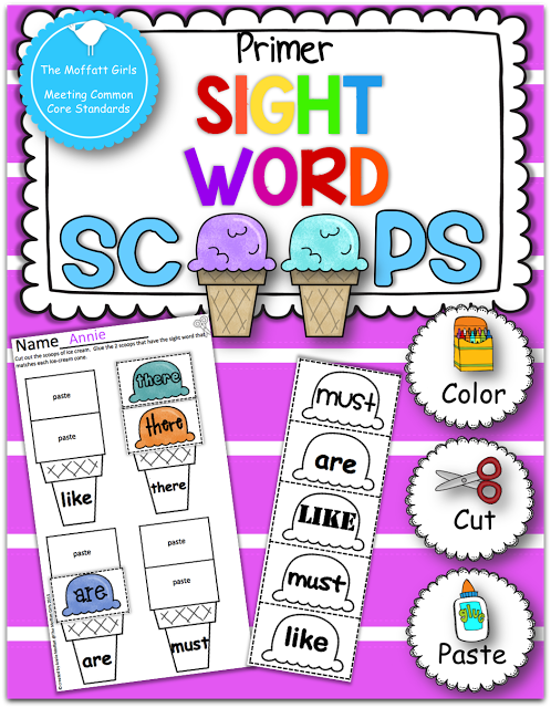 The Moffatt Girls: Sight Word Scoops!