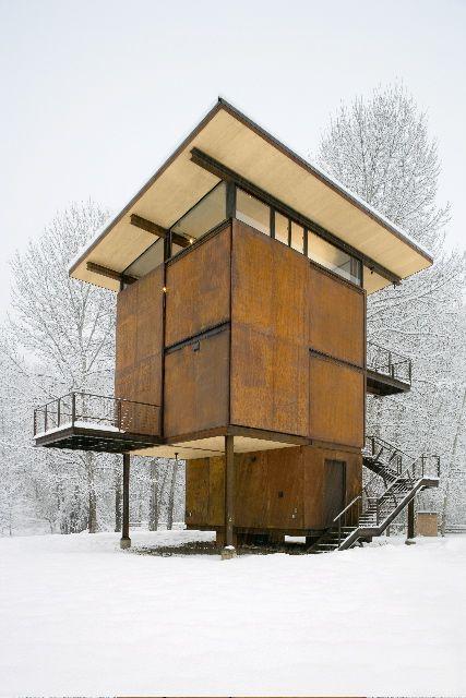 (Tom Kundigu0027s Delta Shelter By Olson Sundberg Kundig Allen Architects.)