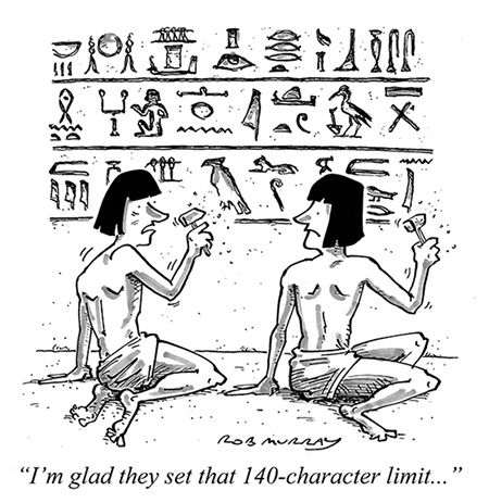 Cartoon: Alternative Histories - Twitter in Ancient Egypt   History Today