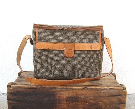 Vintage Hartmann Tweed and Leather Carry On Travel Bag | Tweed ...