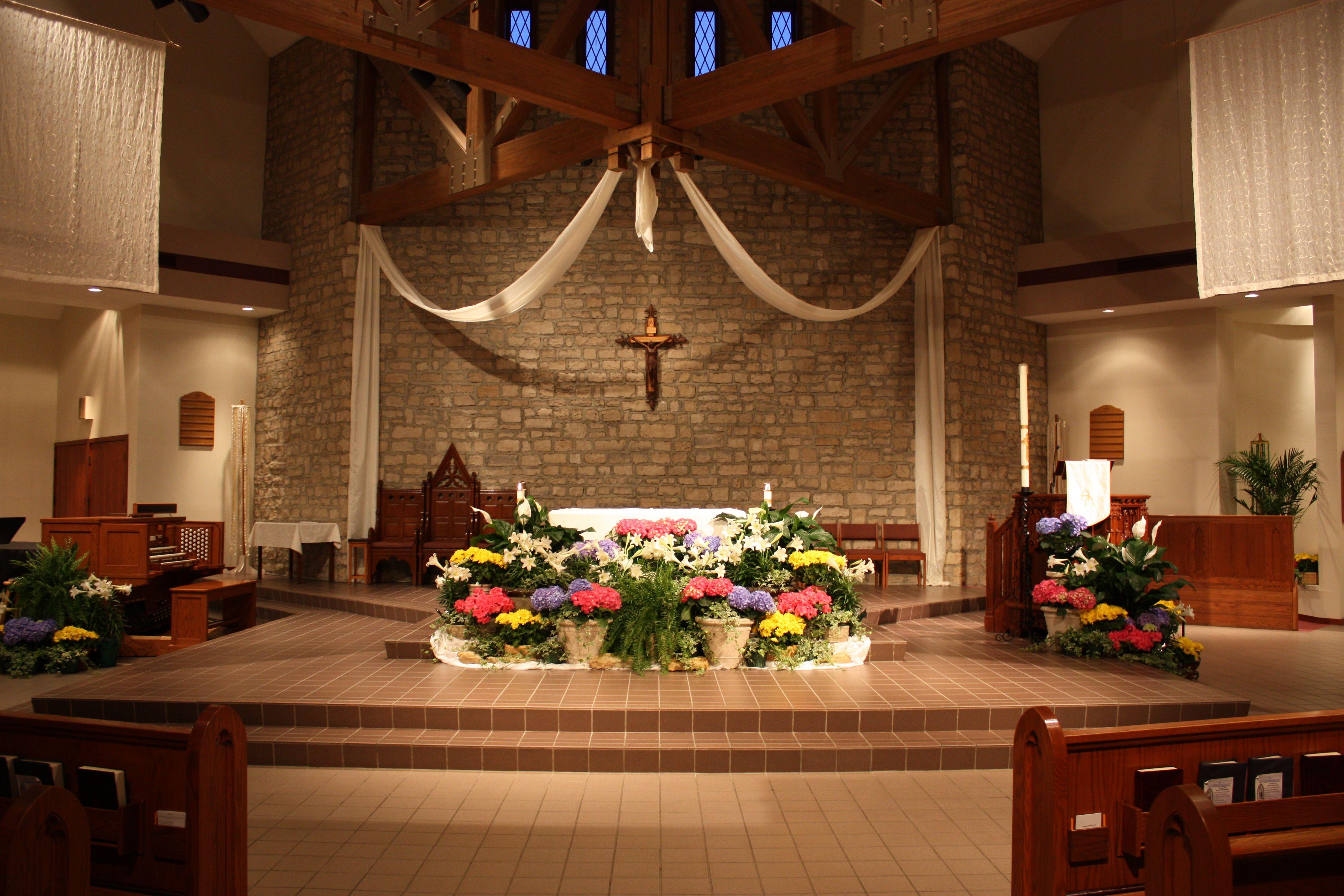 St joan of arc catholic church easter decorations