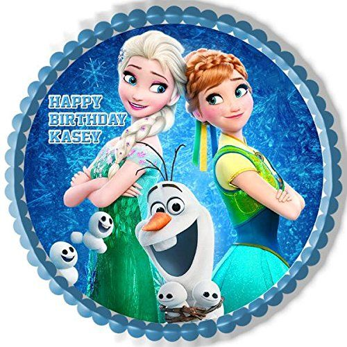 Frozen Fever Elsa Anna Edible Cake Topper Cupcake Toppe https