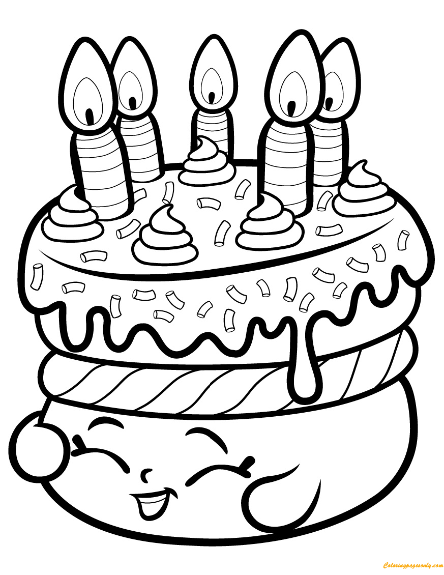 Cake Wishes Shopkin Season 1 Coloring Page Coloring Pages For