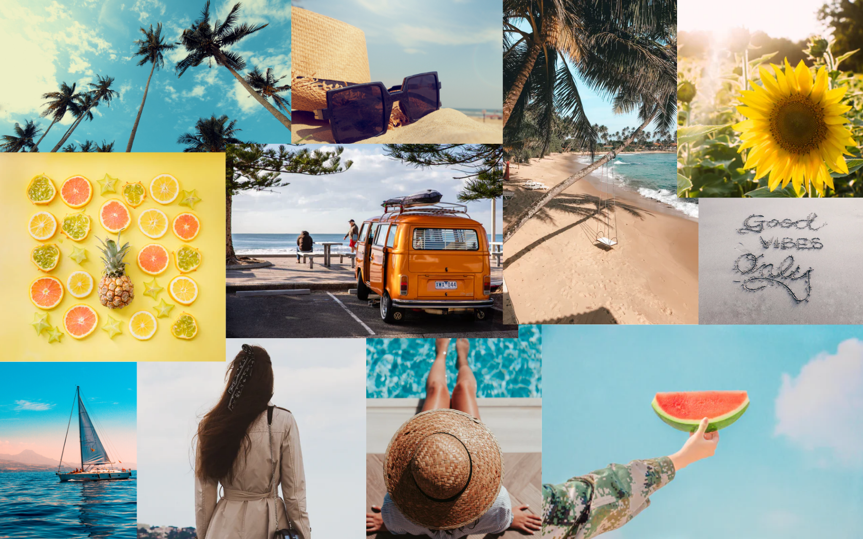 Aesthetic Summer Collage Wallpaper For Macbook In 2020
