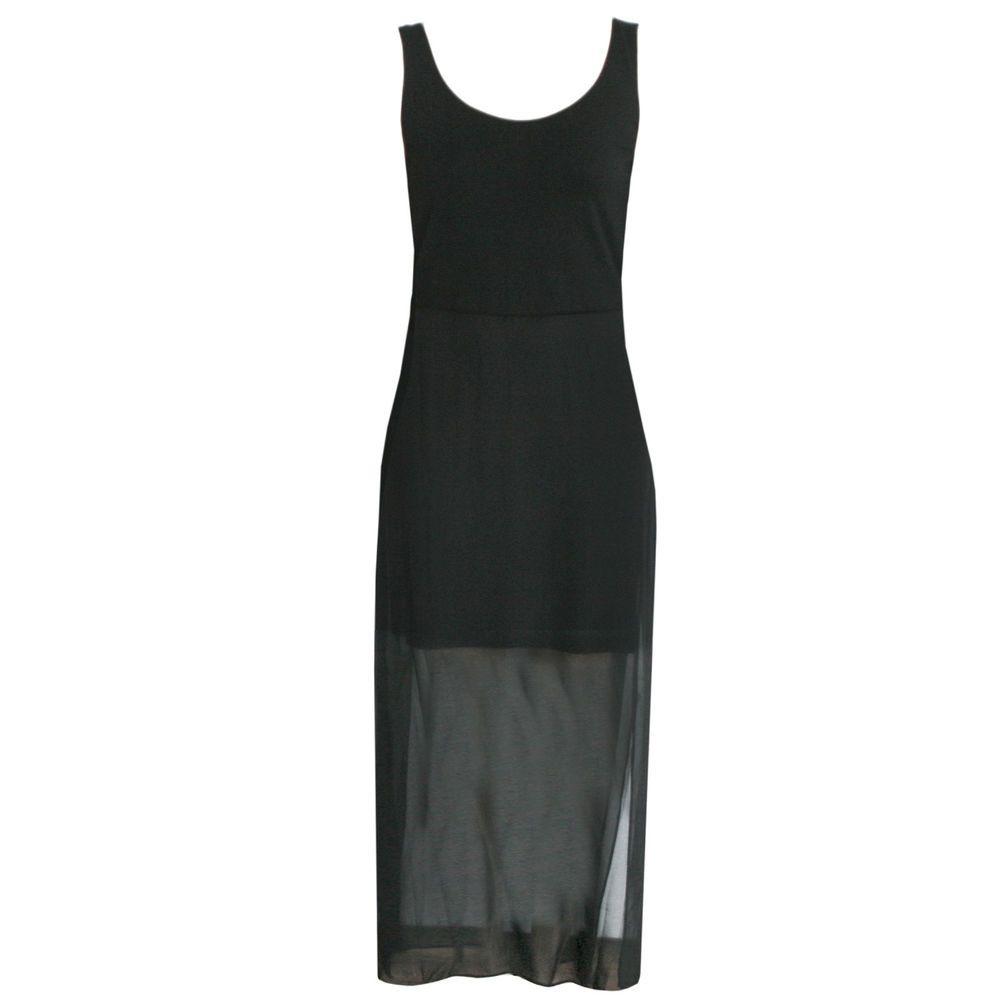 Vince Camuto Long Black Sheer Layered Sleeveless Zipper Back Dress Sz Large New Dress Backs Fashion Dresses [ 1000 x 1000 Pixel ]
