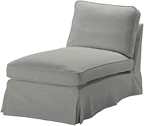 The Light Gray Ikea Ektorp Chaise Cover Replacement Is Cu - ikea ektorp gra