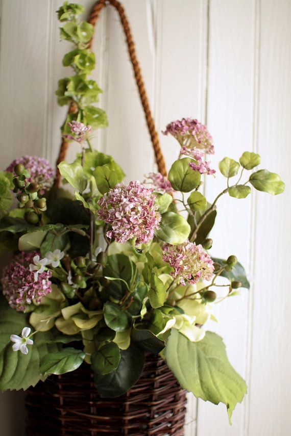 Flower · Spring Allium Basket   Cottage Garden Wreath   Front Door ...