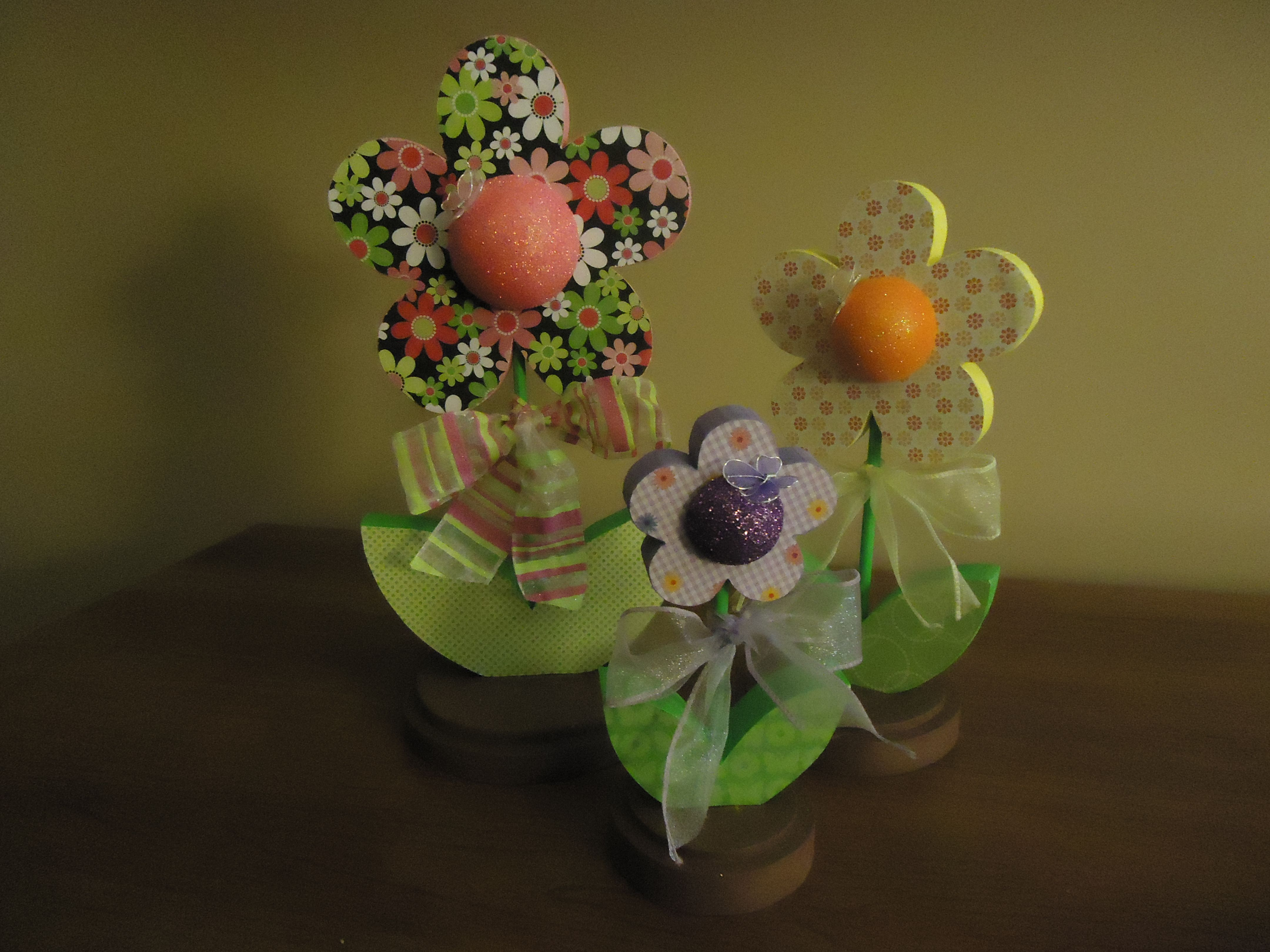 Three Large Spring Flowers Pink The Wood Hut Crafts Pinterest