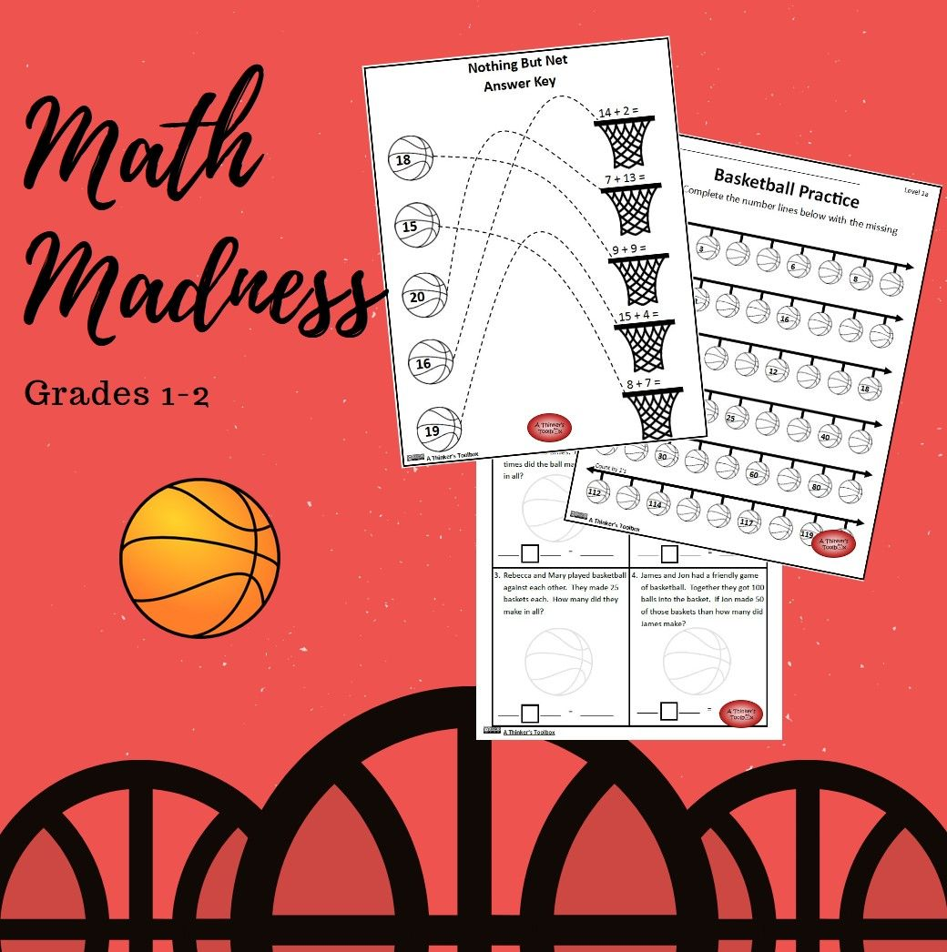 Basketball Math Madness Worksheets Math Madness Math Basketball Math