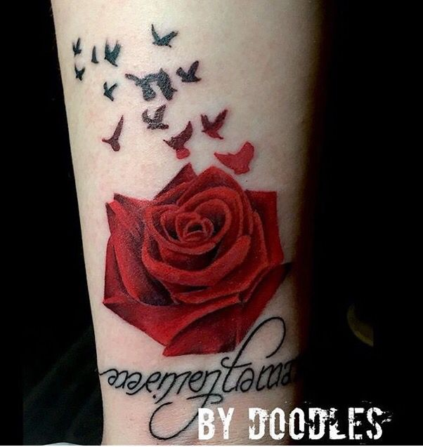 Gorgeous Rose Tattoo By Dan Doodles Ward Rorschach Gallery