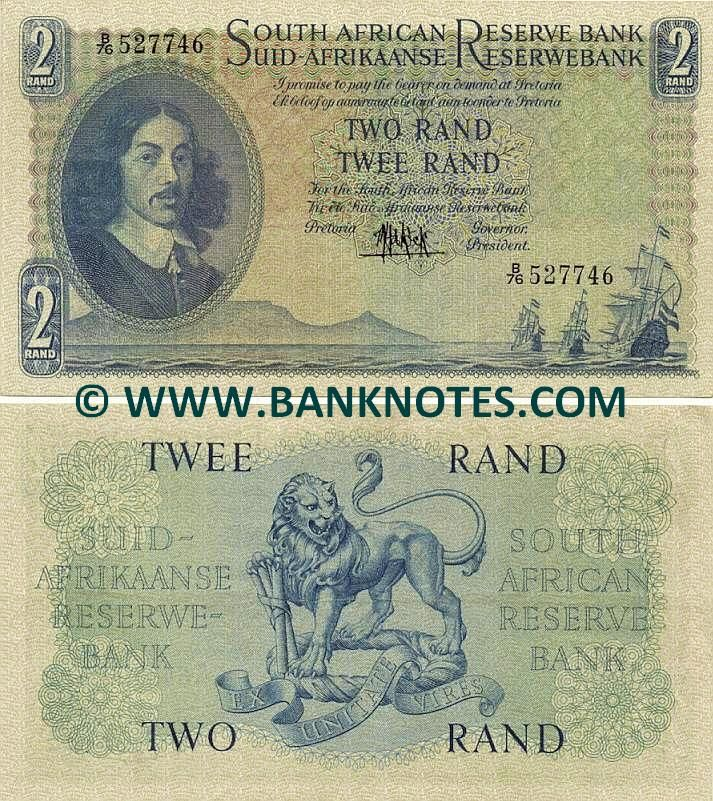 South Africa 2 Rand (1961) Obverse: Portrait Of Johan