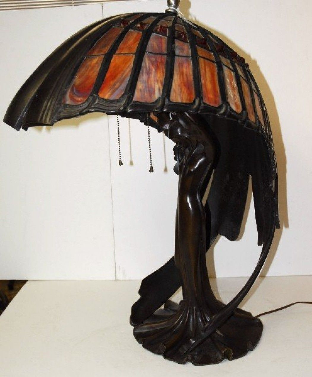 tiffany valley figural bronze and art glass table lamp lot 221br tiffany valley lampu astonishing tiffany - Tiffany Table Lamps