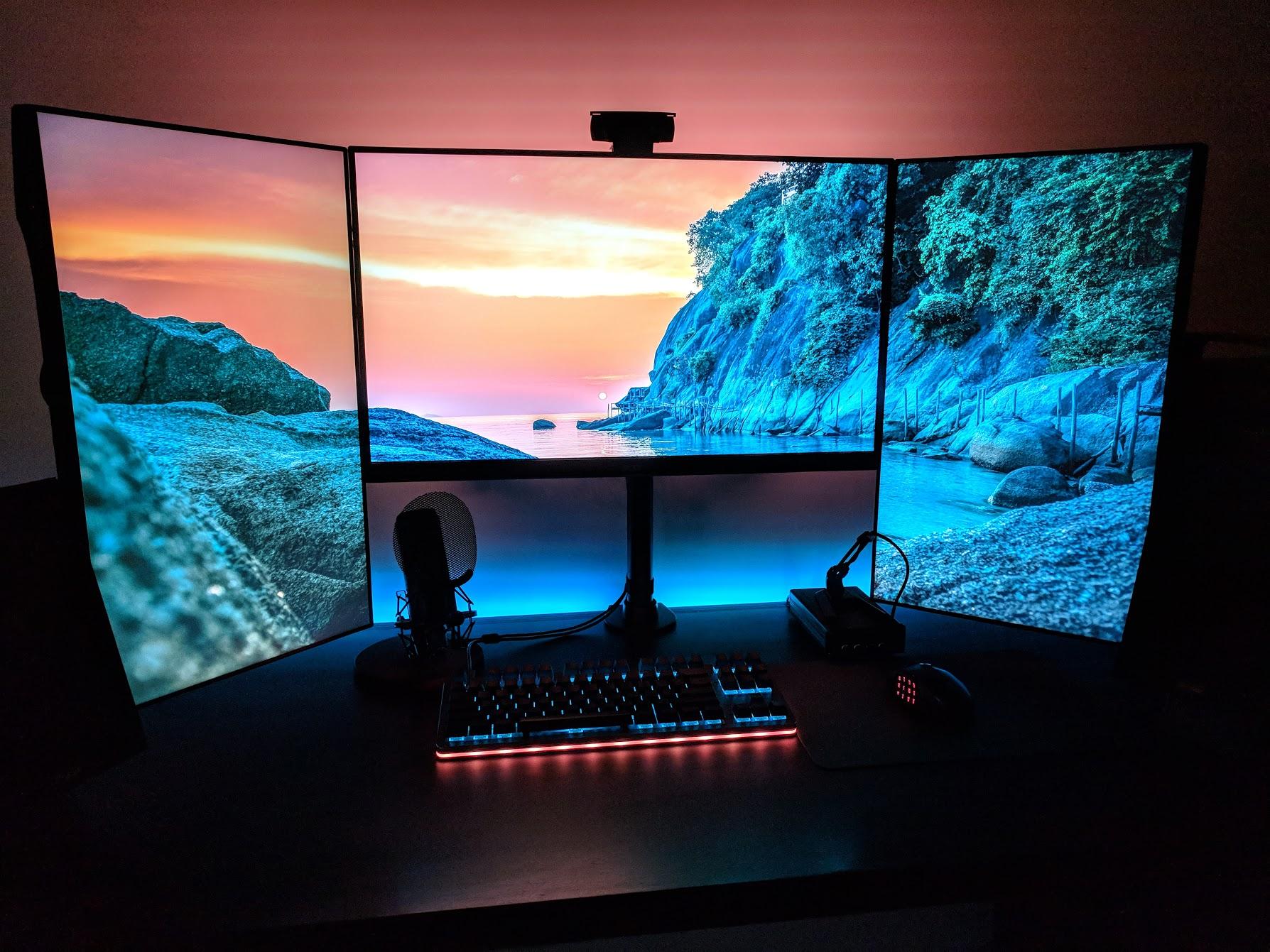 Mid Completion On My Updated Office Battlestation Computer Desk Setup Video Game Rooms Video Game Room Design