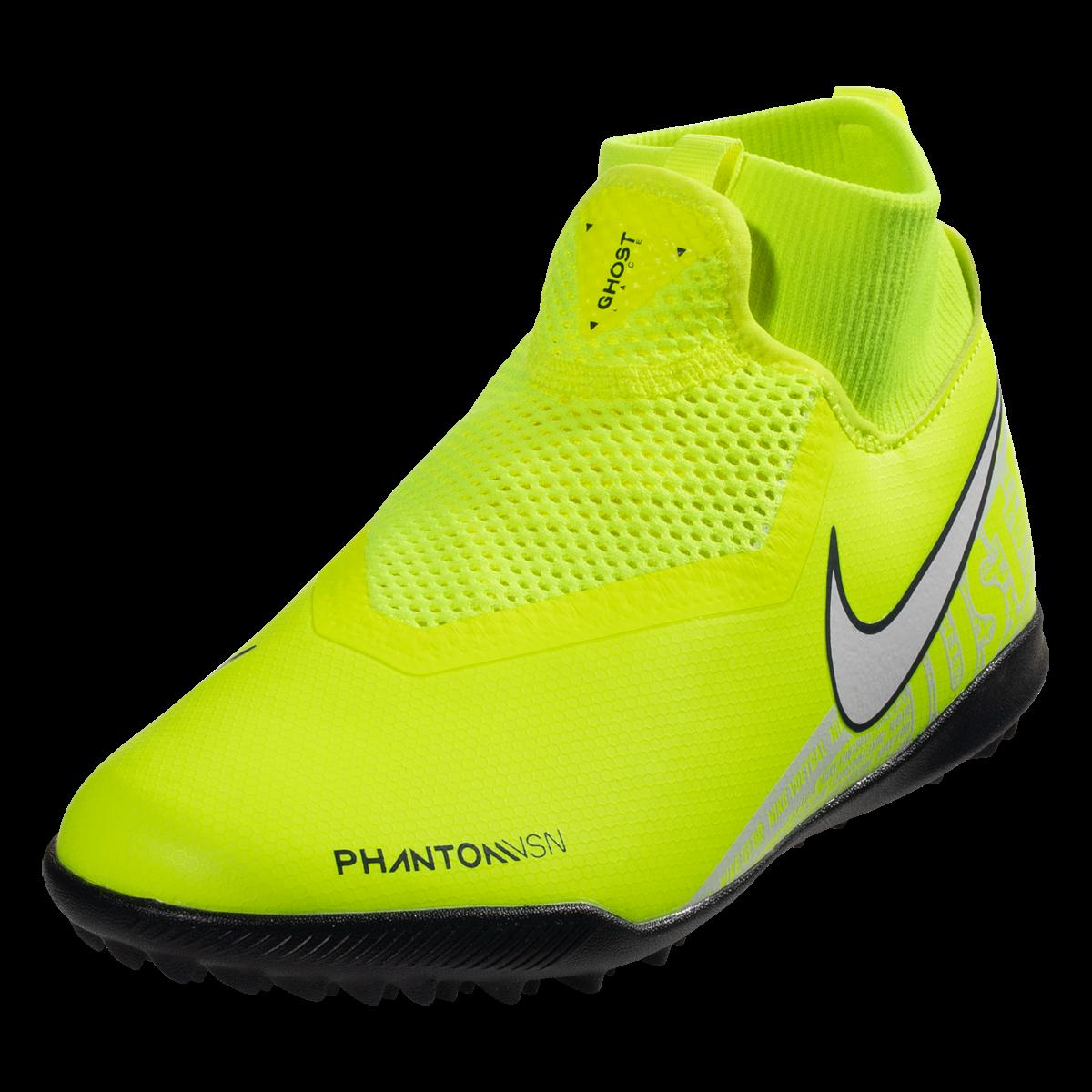 Nike Junior Phantom Vision Academy Df Tf Artificial Turf Soccer Shoe Volt White Obsidian 4 5 Soccer Shoe Soccer Shoes Soccer