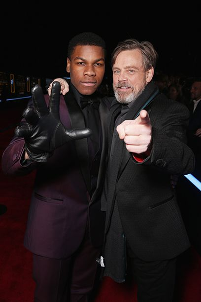 John Boyega and Mark Hamill. #StarWars #TheForceAwakens