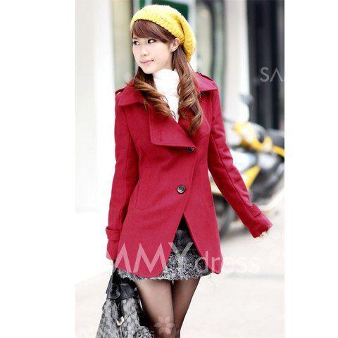 $13.25 Korean Fashion Style Turndown Collar Dust Coat For Female (Half/Long Style)