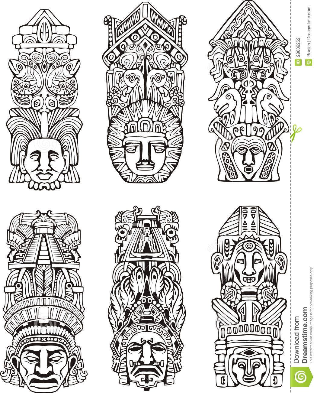 Totem pole designs and meanings images for tatouage totem pole designs and meanings in aztec totems google sk tattoos pinterest biocorpaavc
