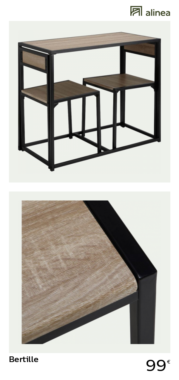 Alinea Bertille Set D Une Table Avec 2 Chaises 2 Convives