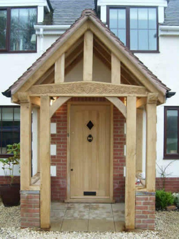 oak porch front door pinterest d co fa ade ext rieure entr es et ext rieur. Black Bedroom Furniture Sets. Home Design Ideas