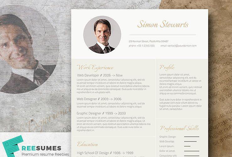 Subtle Gold \u2013 An Elegant Freebie CV Template Cv template, Template