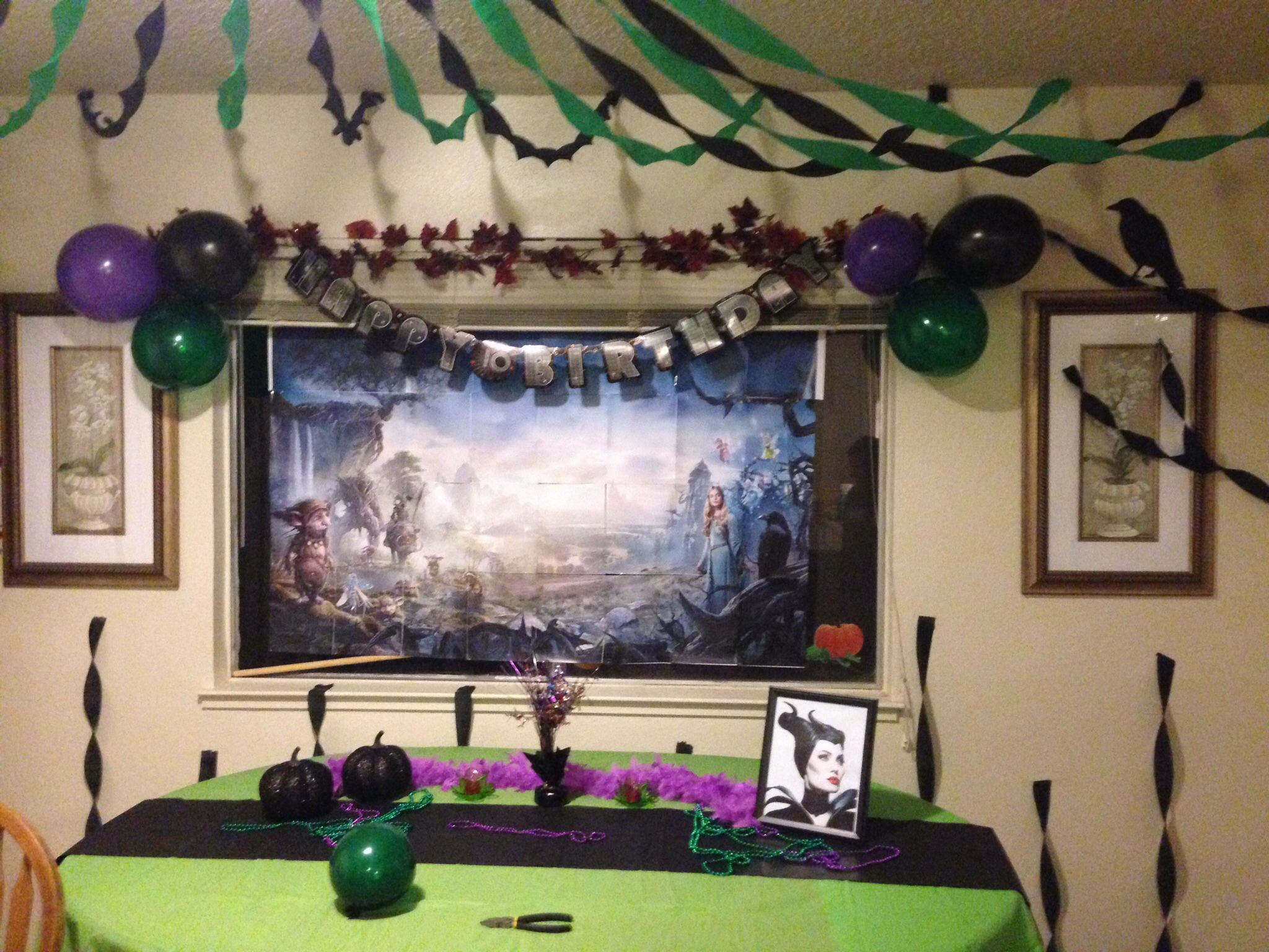 Maleficent Party theme