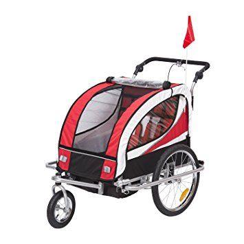 Homcom 440 001rd 2 In 1 Fahrradanhanger Jogger 360 Drehbar Fur