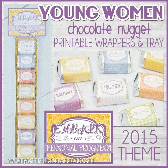 Need an inexpensive favor or birthday gift to give your Young Women? To coordinate with the 2015 Theme, the tag says... EMBARK on Personal