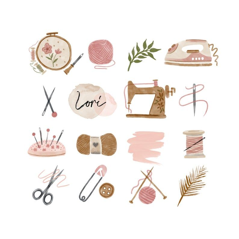 64 Instagram Story Highlight Icons Bundle Iphone Ios 14 App Icons The Watercolor Hand Painted Boho Feminine Florals In 2020 Blog Branding Kit Sewing Machine Embroidery Blog Branding