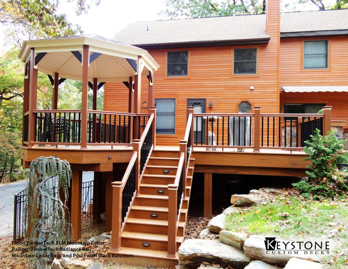 Best Timbertech Xlm Mountain Cedar Decking With Timbertech Radiancerail Mountain Cedar Rails And 640 x 480