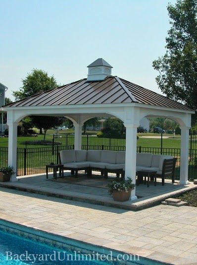 12 X16 Vinyl Traditional Pavilion With Cupola And