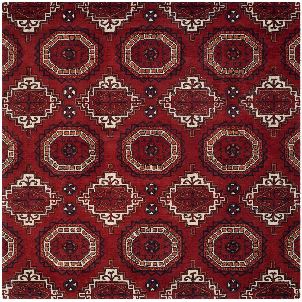 Safavieh Wyndham Red 7 Ft X Square Area Rug Wyd201a 7sq The Home Depot