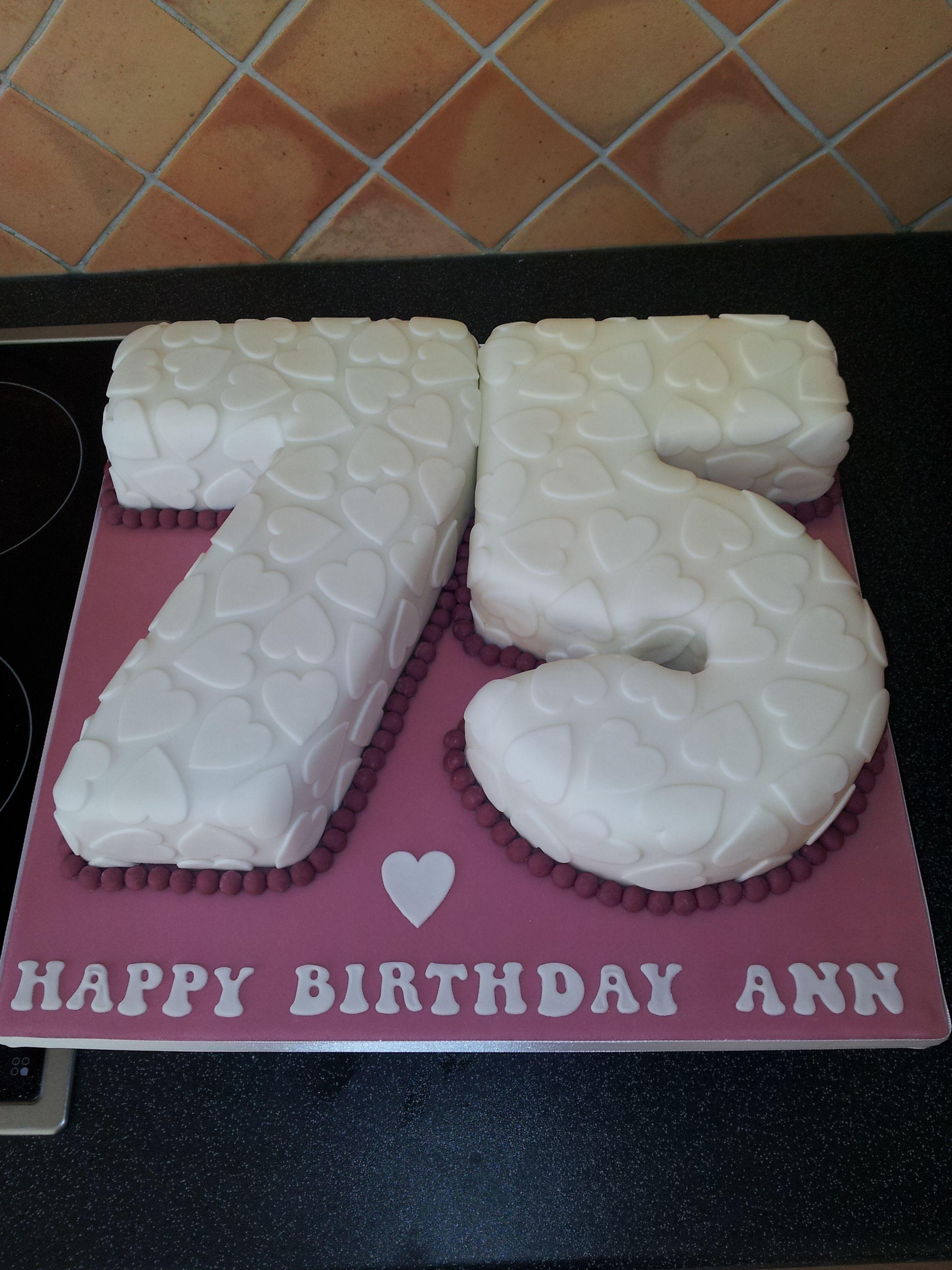 75th Birthday Cake Zanas 75th Pinterest 75 Birthday Cake