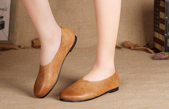 Handgemachte braune weiche Schuhe, Oxford Frauenschuhe