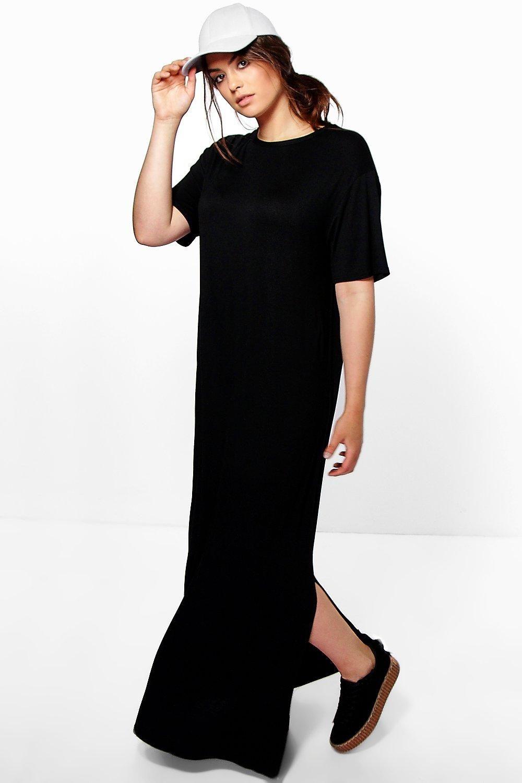 Plus Elisa T Shirt Maxi Dress Plus Sizee Maxi Shirt Dress