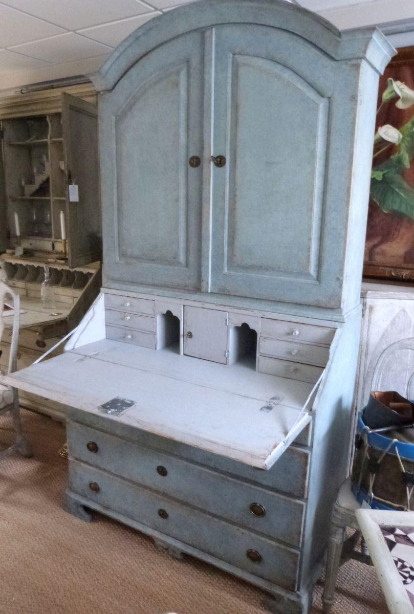 A Painted Swedish Bureau Bookcase - Stock - Blanchard Collective | Antiques, Marlborough