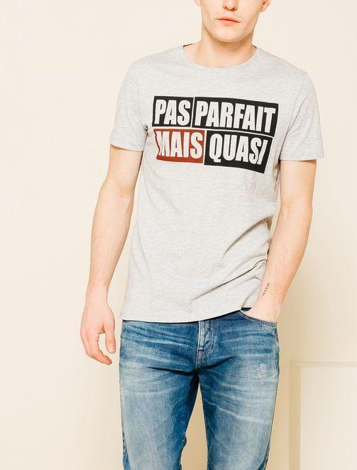 "Tee shirt homme ""pas parfait mais quasi"""