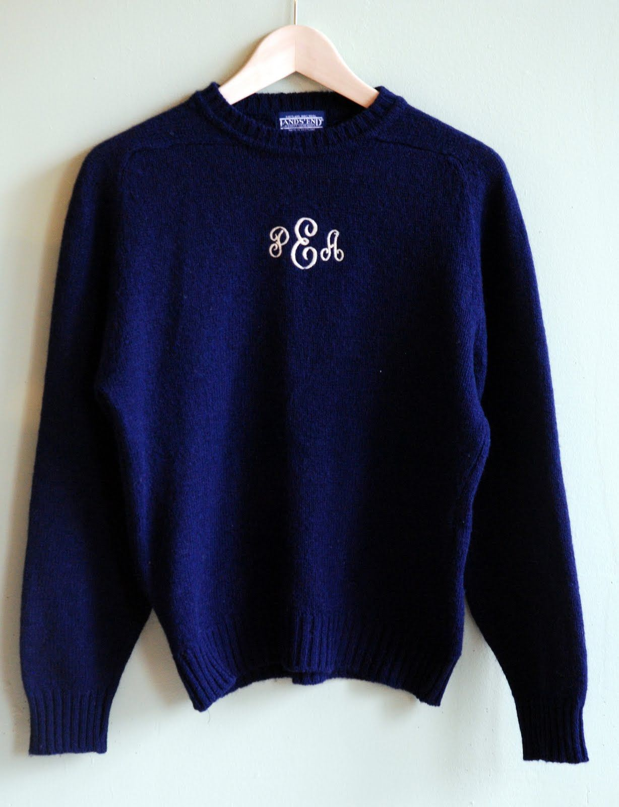 vintage 80s monogram sweater    preppy  to the max  i had one that was a hand