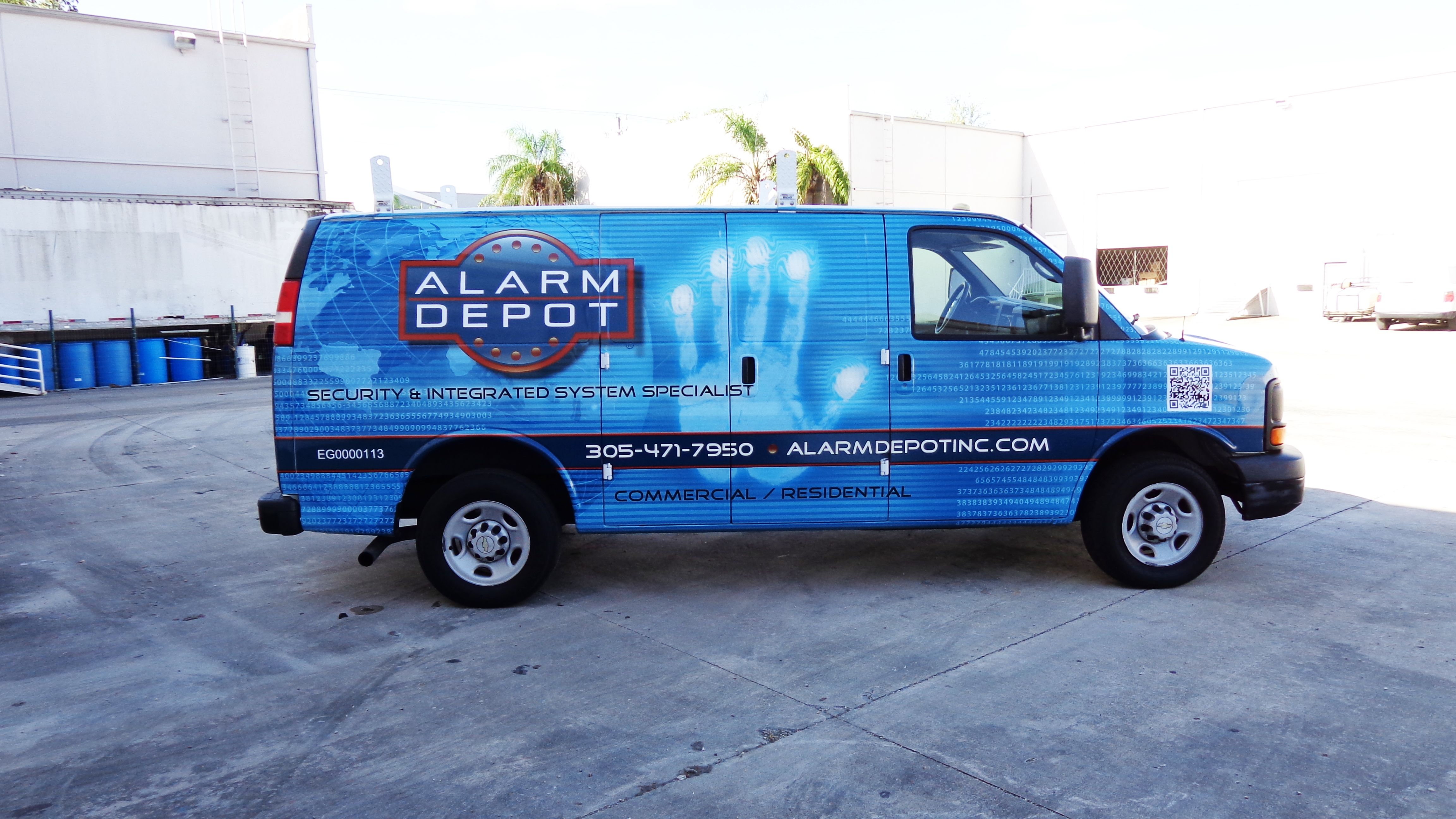 Commercial security company van vinyl wrap miami florida http carwrapsolutions com
