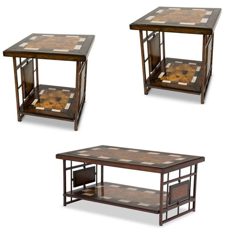 AICO Furniture Sao Paulo 3 Piece Occasional Table Set FS