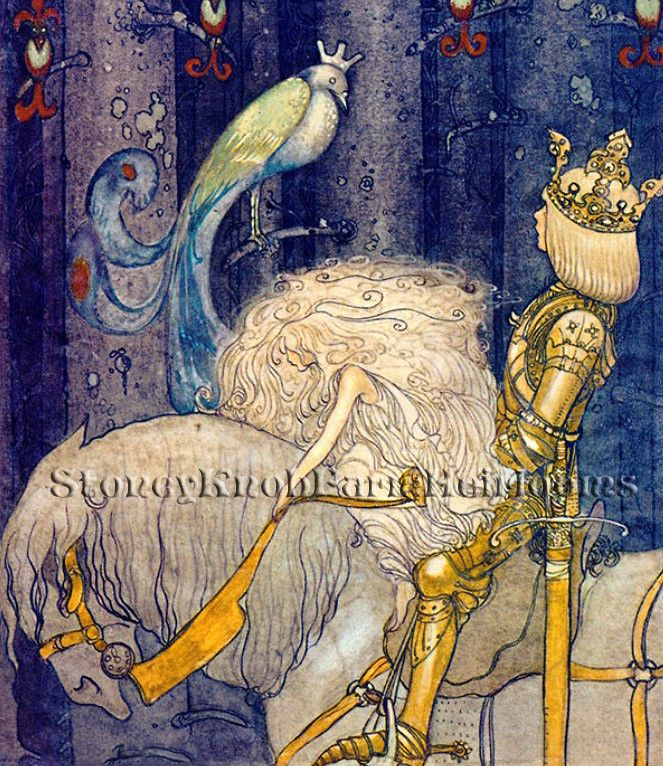 Alvida/'s Window ~ John Bauer Swedish Fairy Tales ~ DIY Cross Stitch Pattern