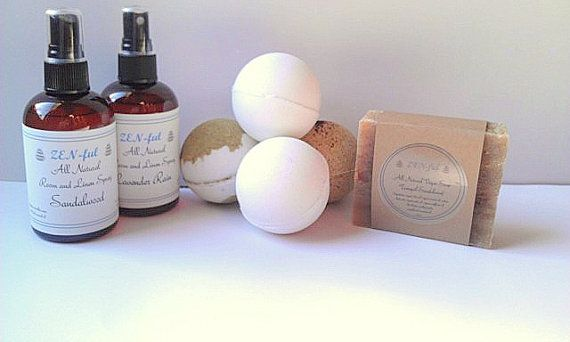 Large Bath Set Holiday Gift Pack All Natural Gifts by ZENfulworld, $34.50