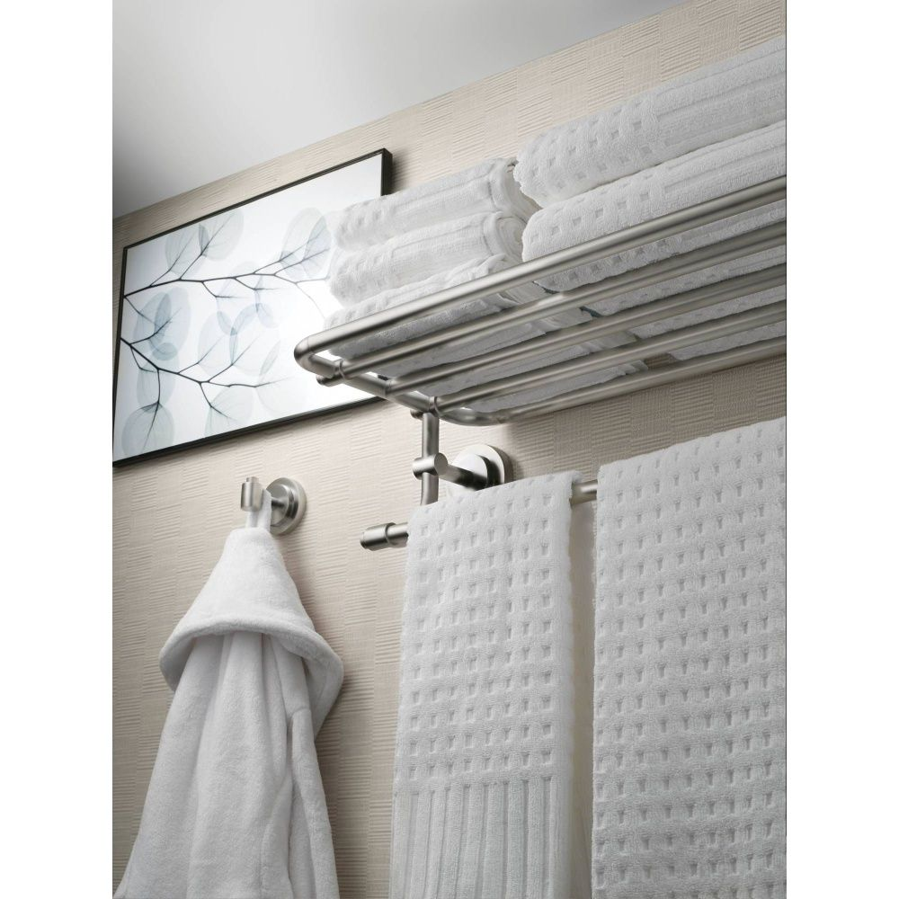 Moen DN0794BN Iso Brushed Nickel Towel Rack Shelf Bathroom ...