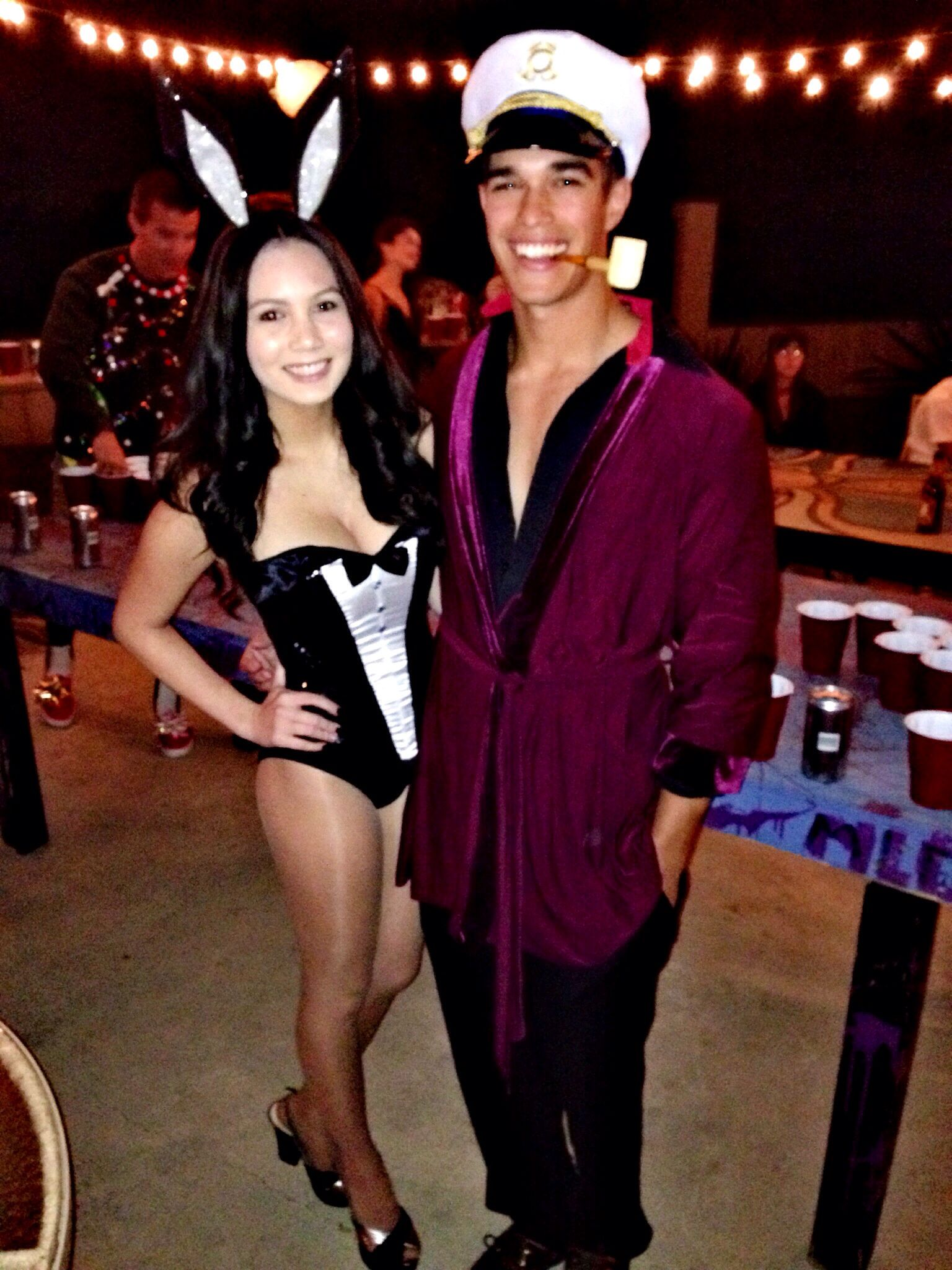 Hugh Hefner and bunny costume couples costume | Desires ...