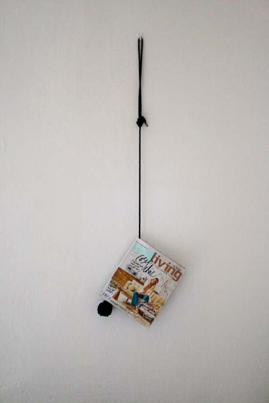 Easy peasy hanger for magazine! It works and looks cool!