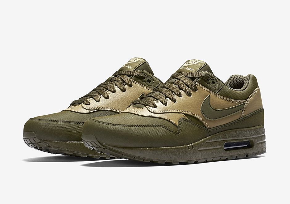 nike air max 1 tape vintage green camo background