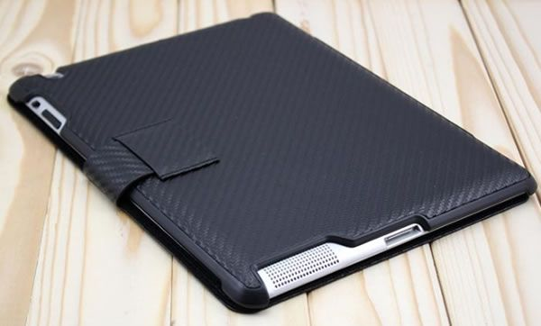 The Carbon Fiber iPad case (works for the iPad 2 and New iPad 3) Sold only at http://www.ipad2cases.com