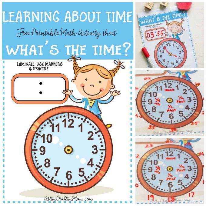 Learning about time - What\u0027s the time clock free printable Free