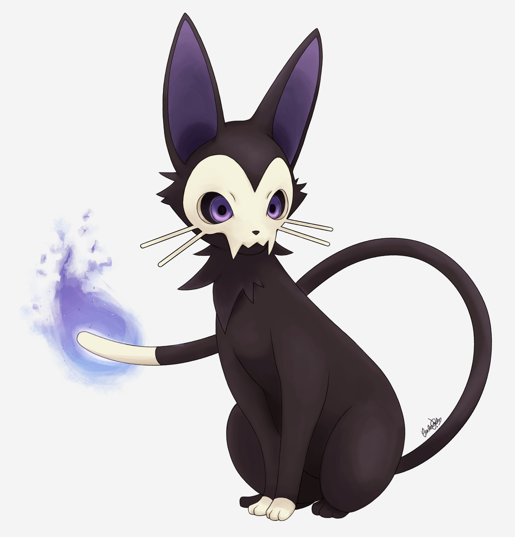 Eeveelution Ghost type by hitsuji02 on DeviantArt Cat